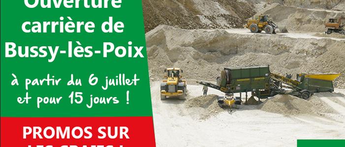 OUVERTURE DE LA CARRIÈRE DE BUSSY-LES-POIX